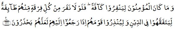 Surah Tawbah aayah 122